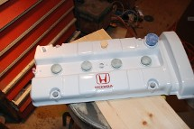 White Honda Painted Motorcycle Piece