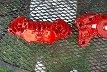 Red Metal Pieces (2)
